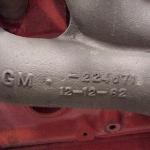 Left Exhaust Casting Date