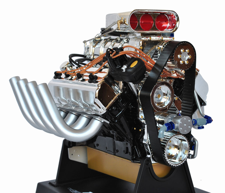 Hot rod engine tech summit racing 16 scale top fuel hemi racing model hemi engine sciox Choice Image