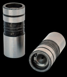 Hydraulic lifters incorporate internal hydraulic plunger held inplace by snap ring.