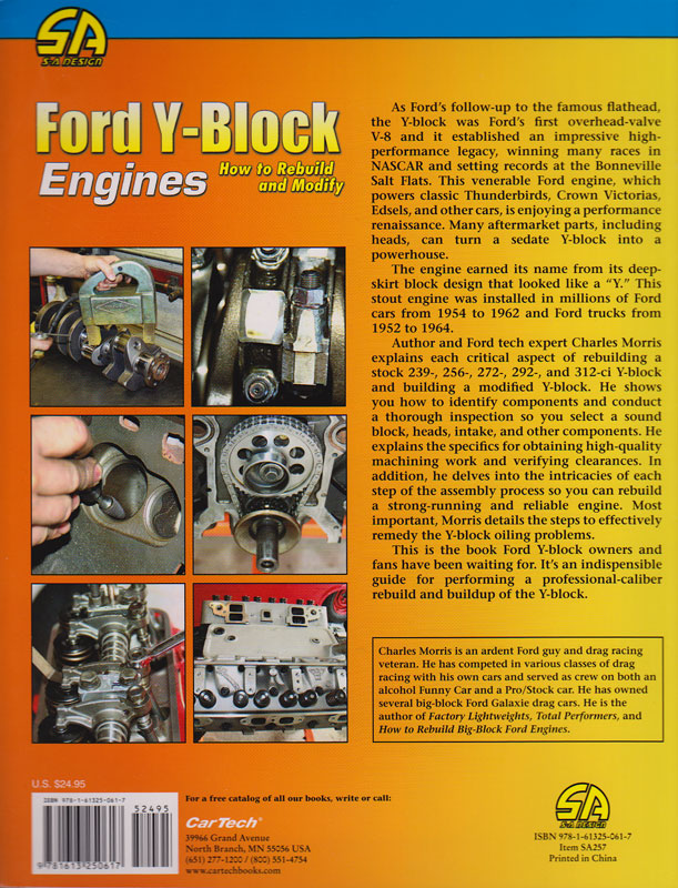 Hot Rod Engine Tech New Ford Y Block Build Book Hot Rod Engine Tech