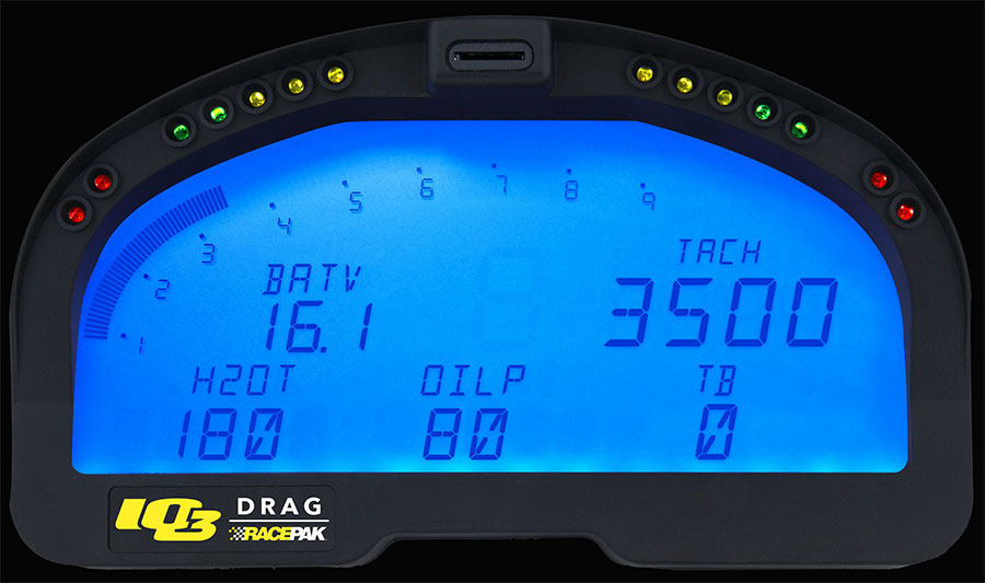 Drag Racing Data Logger Dash : Hot rod engine tech racepak iq d drag logger dash