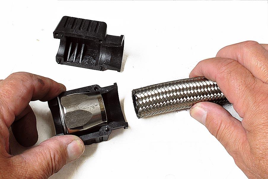braided hose tool
